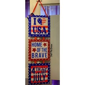 Other - Patriotic Red White Blue Wall Decor